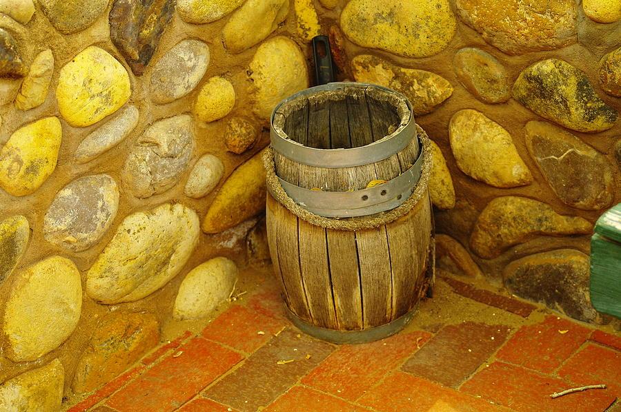 Barrels Photograph - A Sole Barrel by Jeff Swan