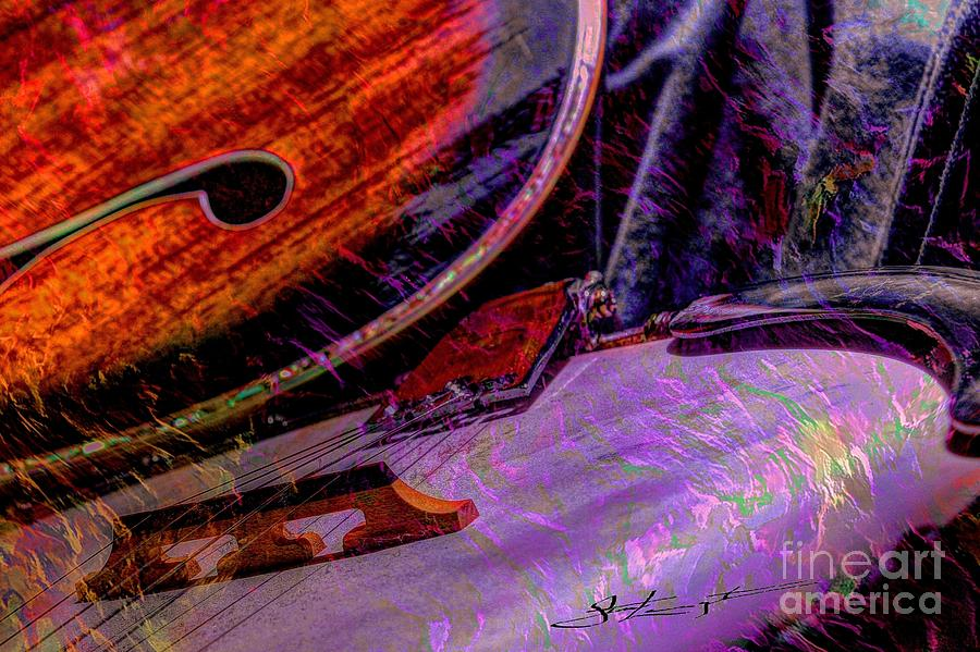 A Southern Combination Digital Banjo And Guitar Art By Steven Langston Photograph
