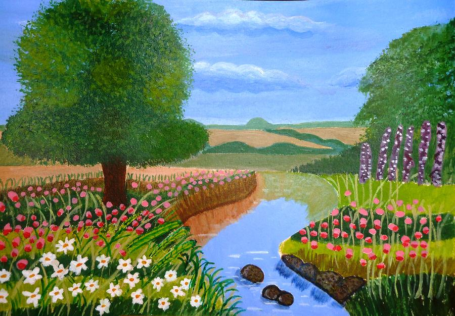 Sky Painting - A Spring Stream by Magdalena Frohnsdorff