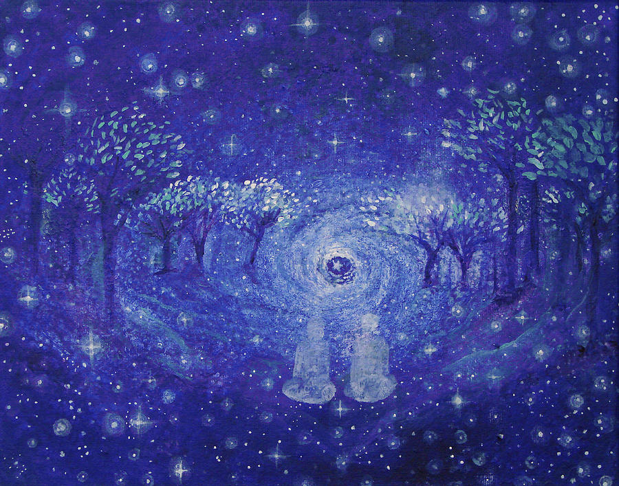 A Star Night Painting