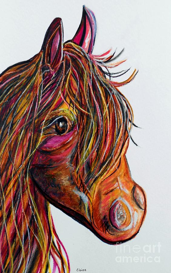 Horse Painting - A Stick Horse Named Amber by Eloise Schneider