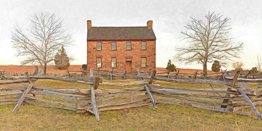 Stone House / Manassas National Battlefield / Winter Morning Digital Art