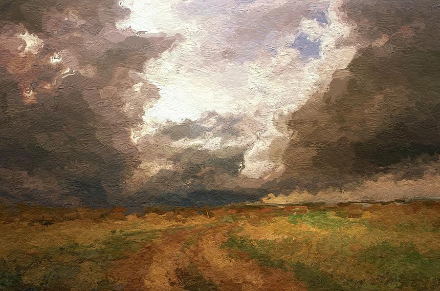 A Stormy Day Painting