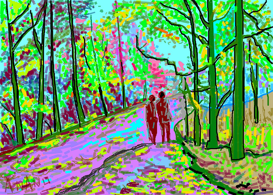A Street Scene-2 Digital Art - A Street Scene-2 by Anand Swaroop Manchiraju