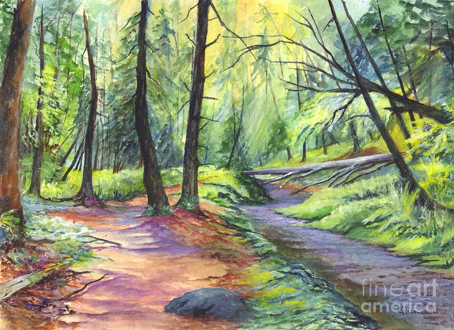 A Stroll Through The Forest Painting  - A Stroll Through The Forest Fine Art Print