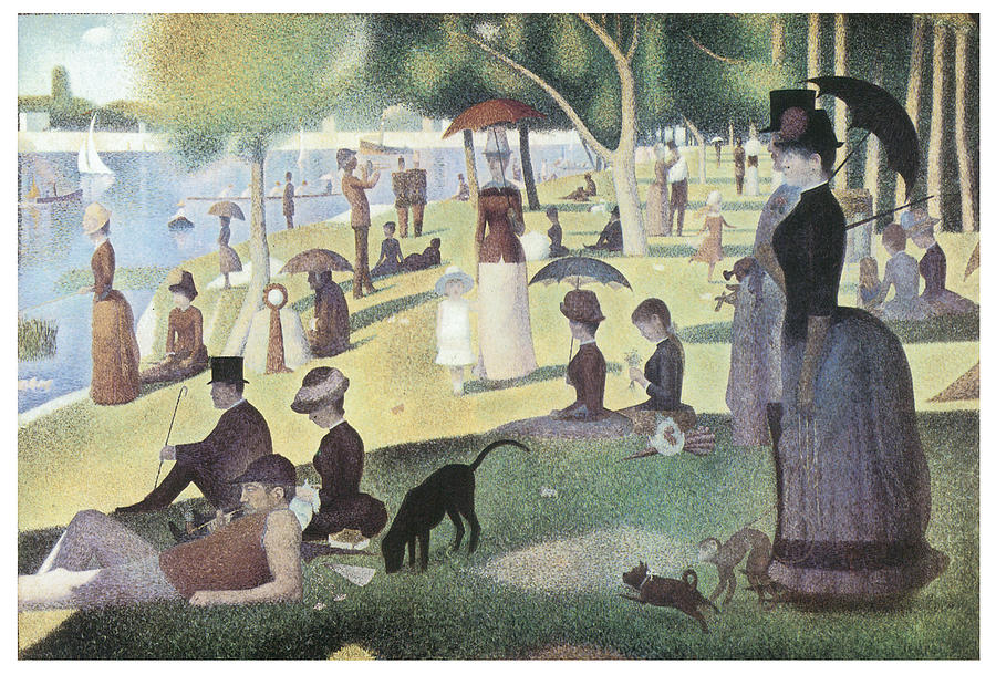 A Sunday Afternoon On The Island Of La Grande Jatte Painting  - A Sunday Afternoon On The Island Of La Grande Jatte Fine Art Print