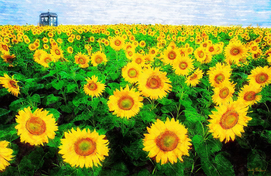 A Sunny Day With Vincent Painting  - A Sunny Day With Vincent Fine Art Print