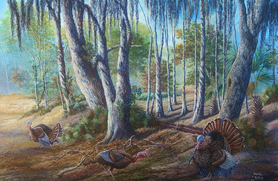 A Turkey Hunters Dream. Painting  - A Turkey Hunters Dream. Fine Art Print