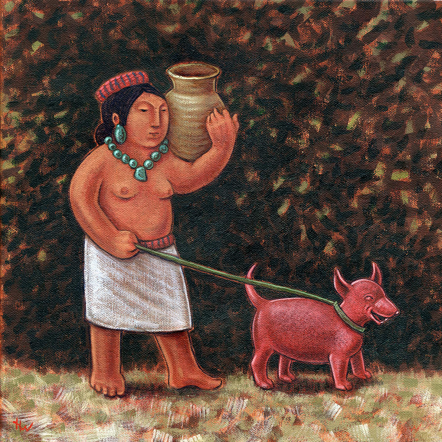 A Walk In Old Colima Painting