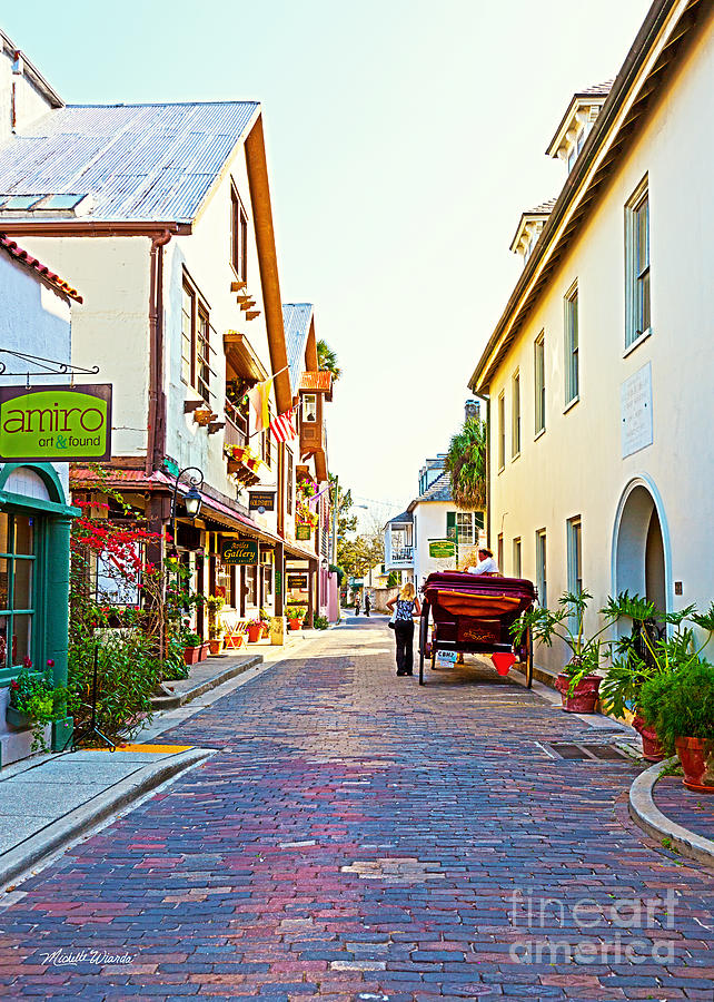 A Walk In St Augustine Photograph - A Walk In St Augustine by Michelle Wiarda