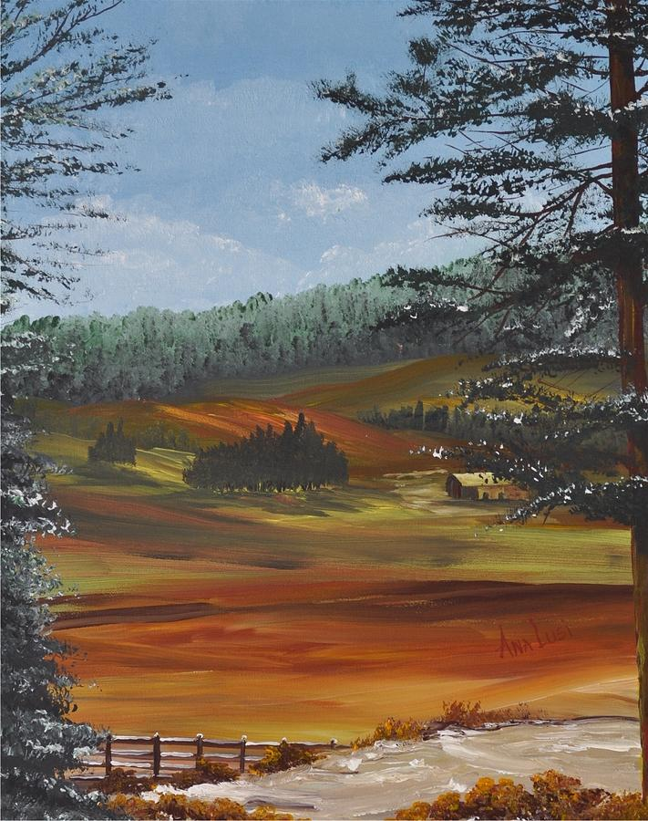 A Walk In The Hills Painting  - A Walk In The Hills Fine Art Print