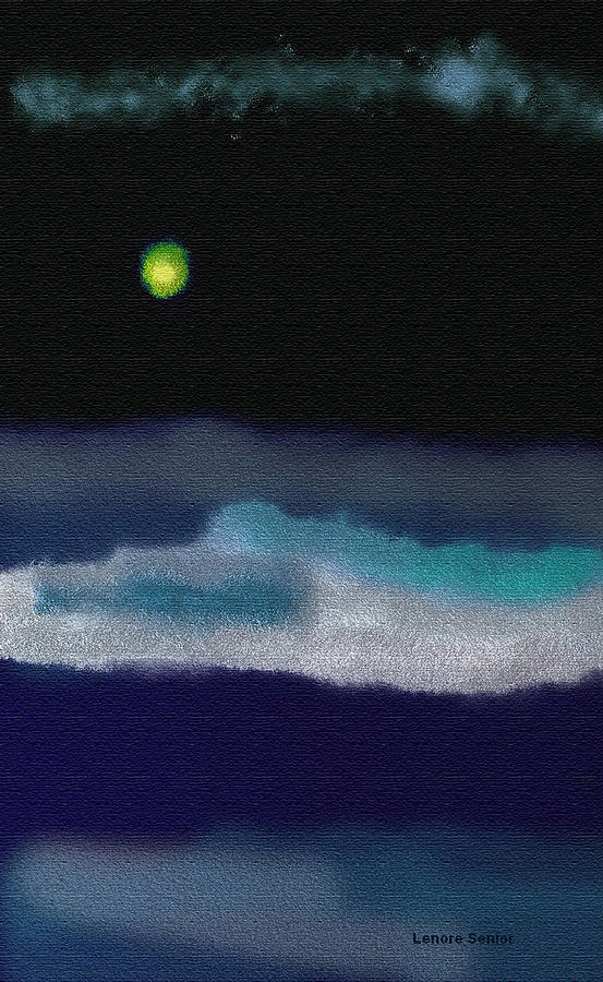 A Winter Night Painting