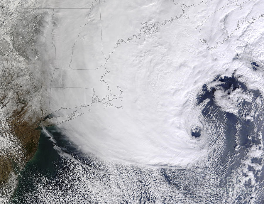 A Winter Storm Over Eastern New England Photograph