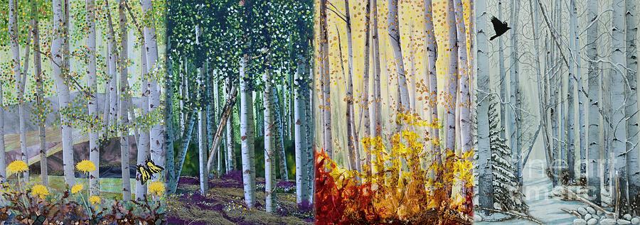A Year In An Aspen Forest Digital Art