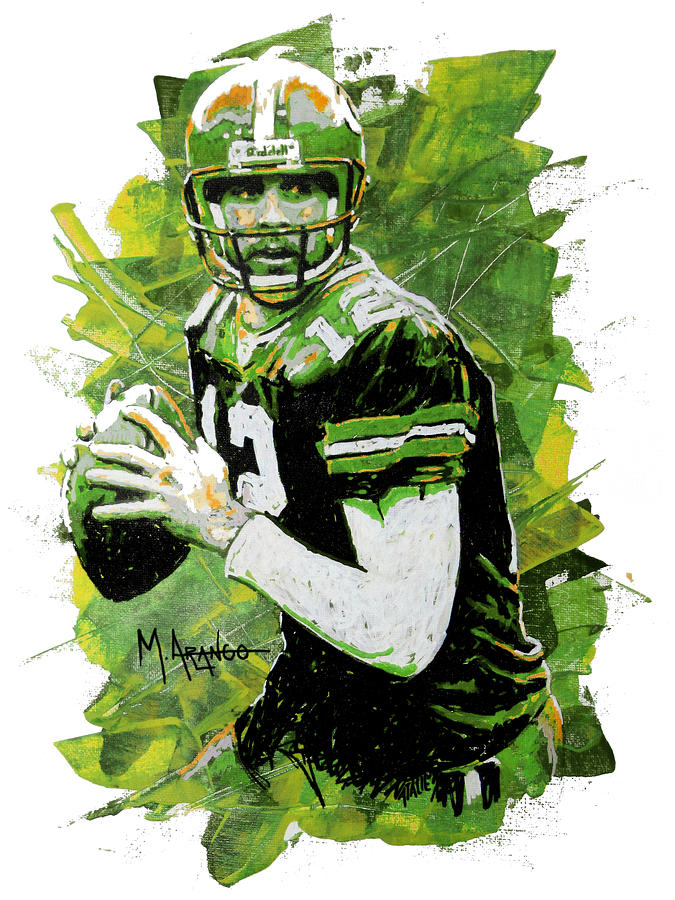 Aaron Rodgers Mixed Media  - Aaron Rodgers Fine Art Print