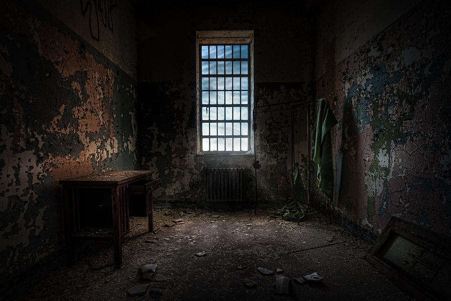 Abandoned Building - Old Room - Room With A Desk Photograph  - Abandoned Building - Old Room - Room With A Desk Fine Art Print