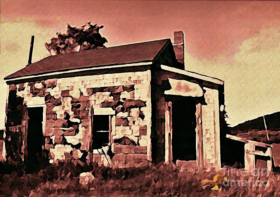 Abandoned Cape Breton House Digital Art  - Abandoned Cape Breton House Fine Art Print