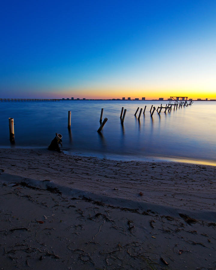 Abandoned Dock At Sunrise Photograph