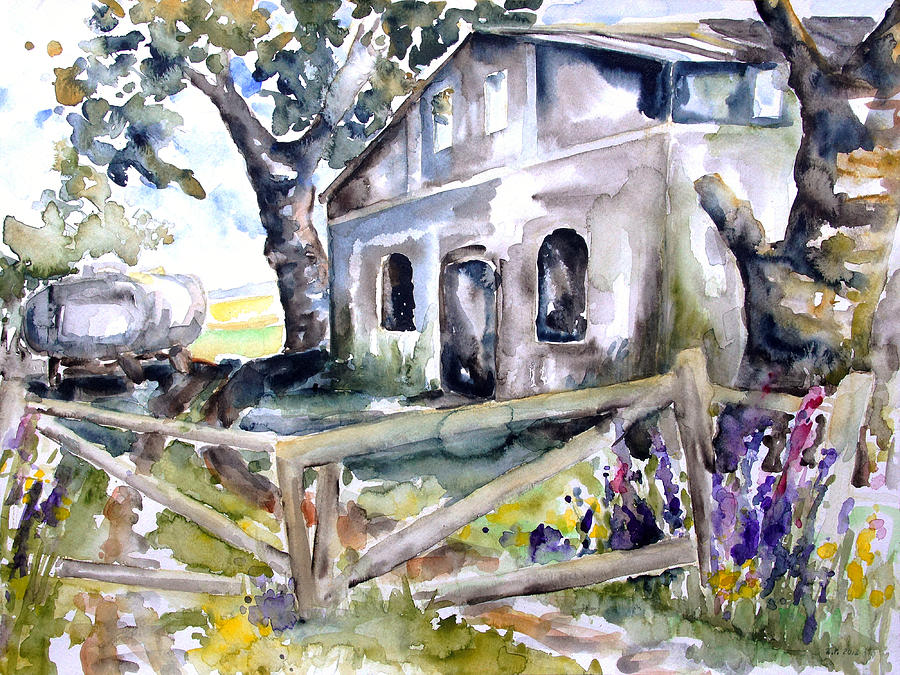 Summer Painting - Abandoned Farm  Nossentin by Barbara Pommerenke