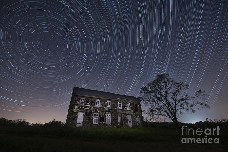 Abandoned History Star Trails Photograph  - Abandoned History Star Trails Fine Art Print