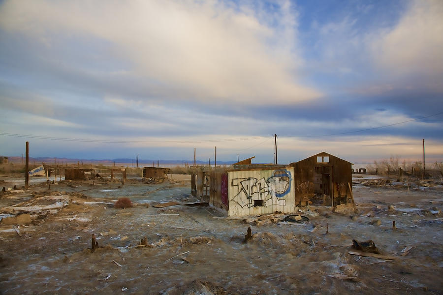 Abandoned Home Salton Sea Photograph  - Abandoned Home Salton Sea Fine Art Print
