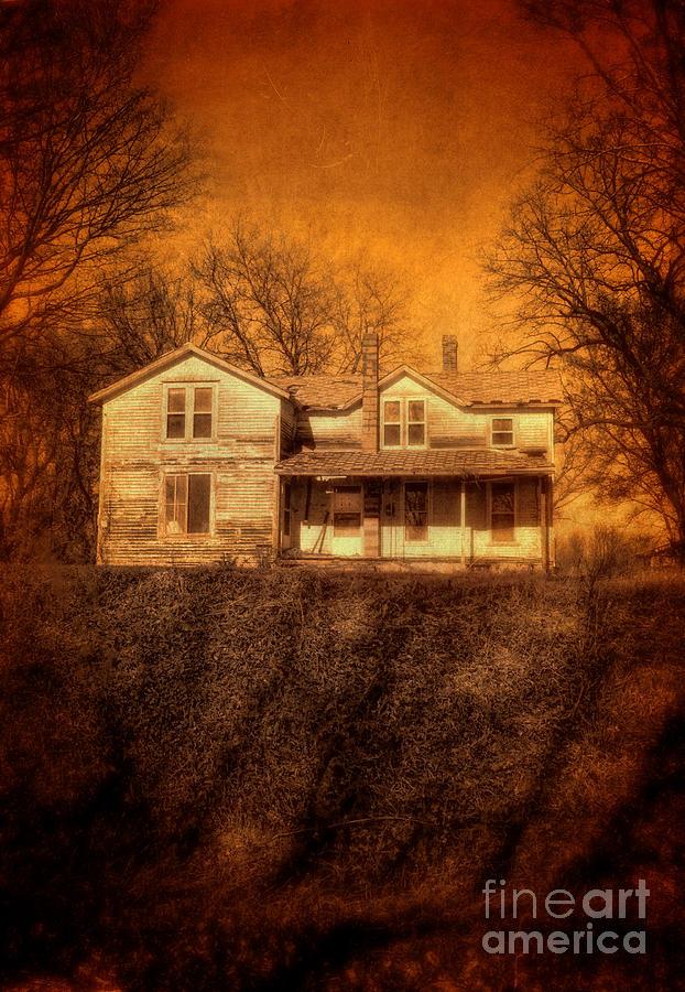House Photograph - Abandoned House Sunset by Jill Battaglia