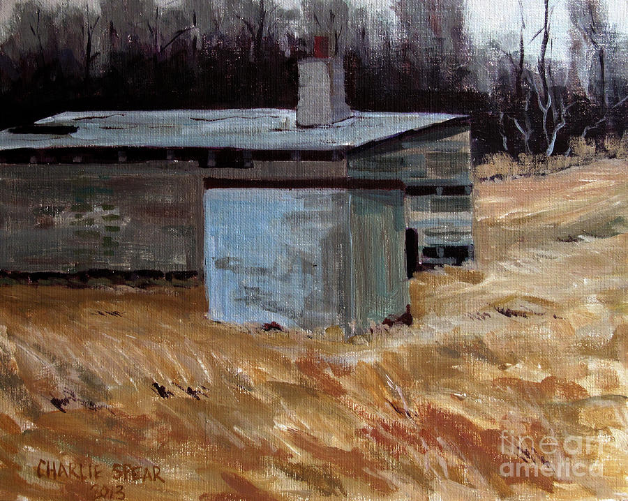 Abandoned Ice House Circa Late 1800.s Painting