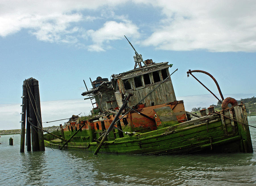 Old Ships Photograph - Abandoned  by Kami McKeon