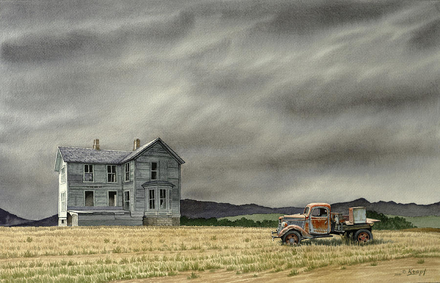 Landscape Painting - Abandoned   by Paul Krapf