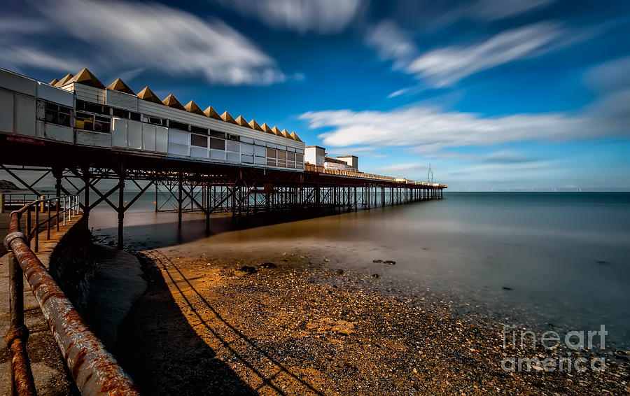 Coast Photograph - Abandoned Pier by Adrian Evans