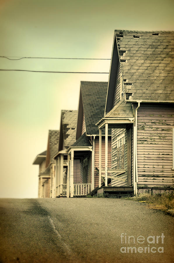 Telephone Poles Photograph - Abandoned Shacks by Jill Battaglia