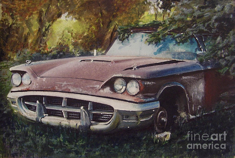 Abandoned Thunderbird Drawing  - Abandoned Thunderbird Fine Art Print