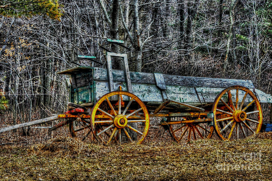 Abandoned Wagon Edge Of Field Photograph