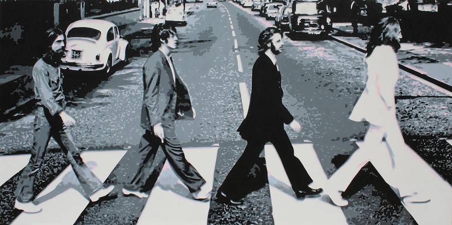 The Beatles Painting - Abbey Road 2013 by Luis Ludzska