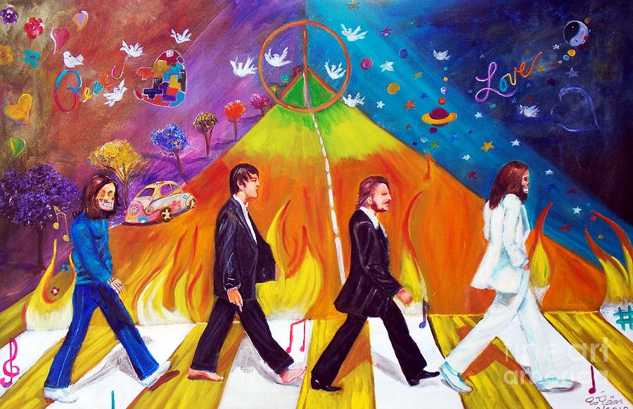 Abbey Road Painting - Abbey Road by To-Tam Gerwe