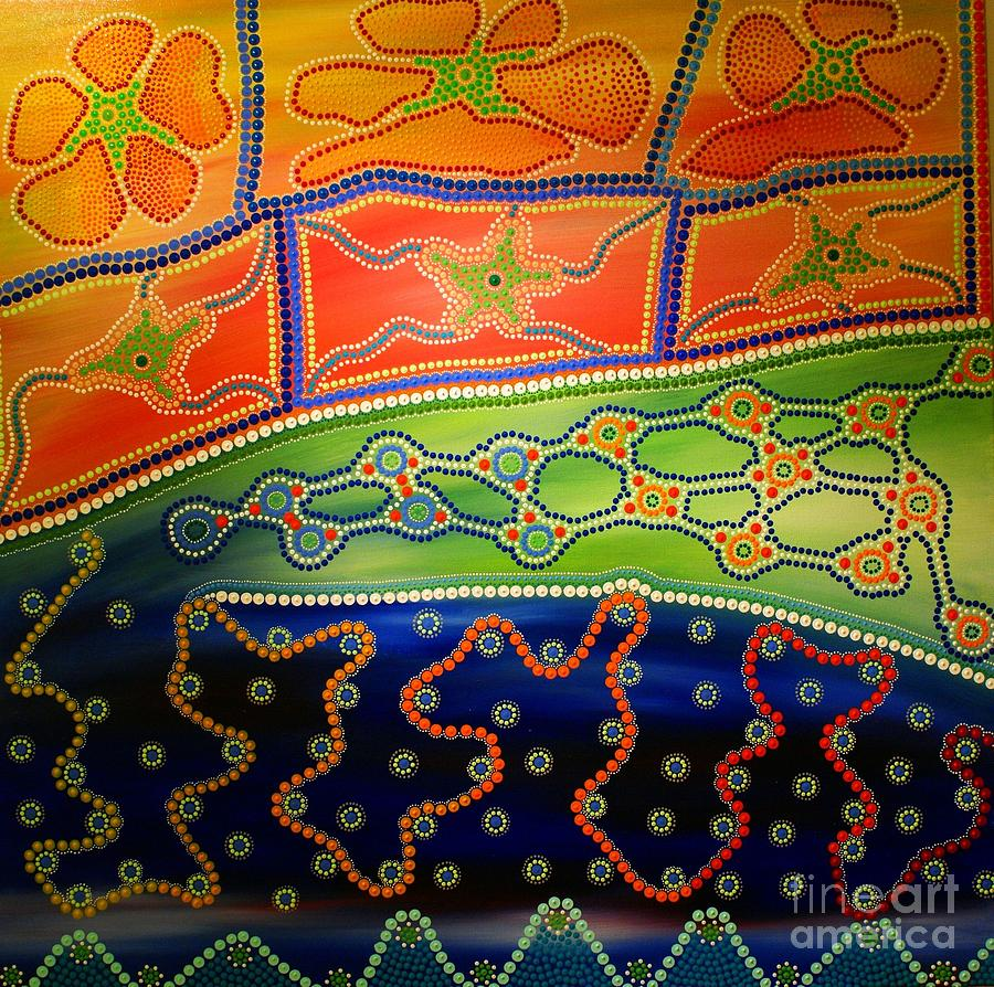 Aboriginal Inspirations 7 Painting  - Aboriginal Inspirations 7 Fine Art Print
