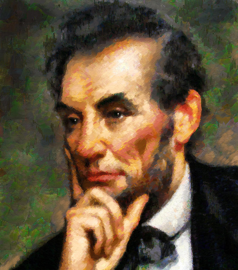 Abraham Lincoln - Abstract Realism Painting