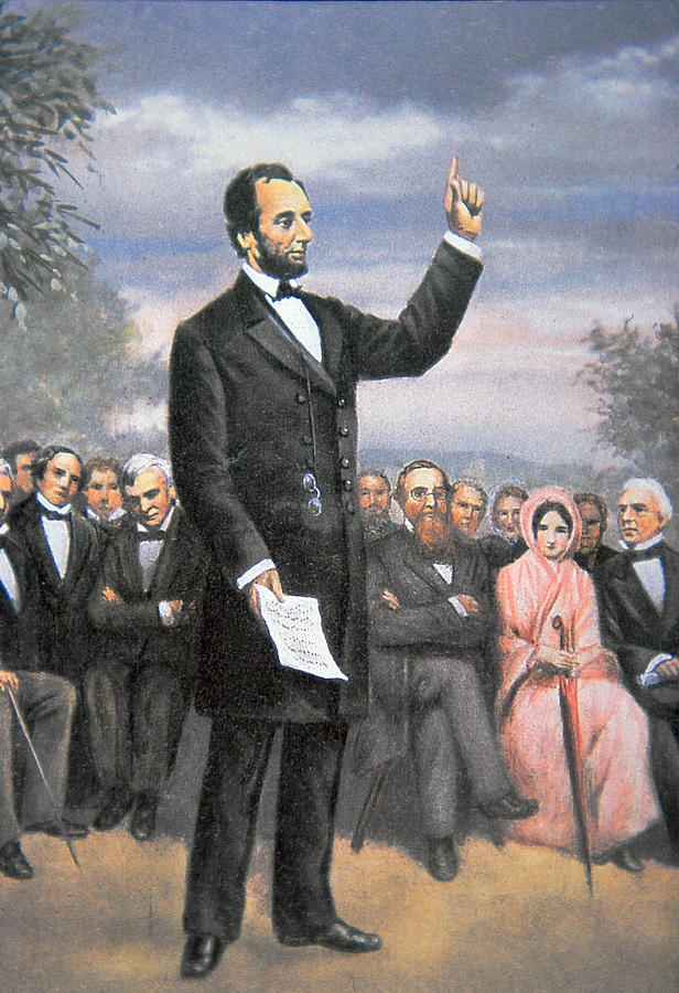 Abraham Lincoln Delivering The Gettysburg Address Painting