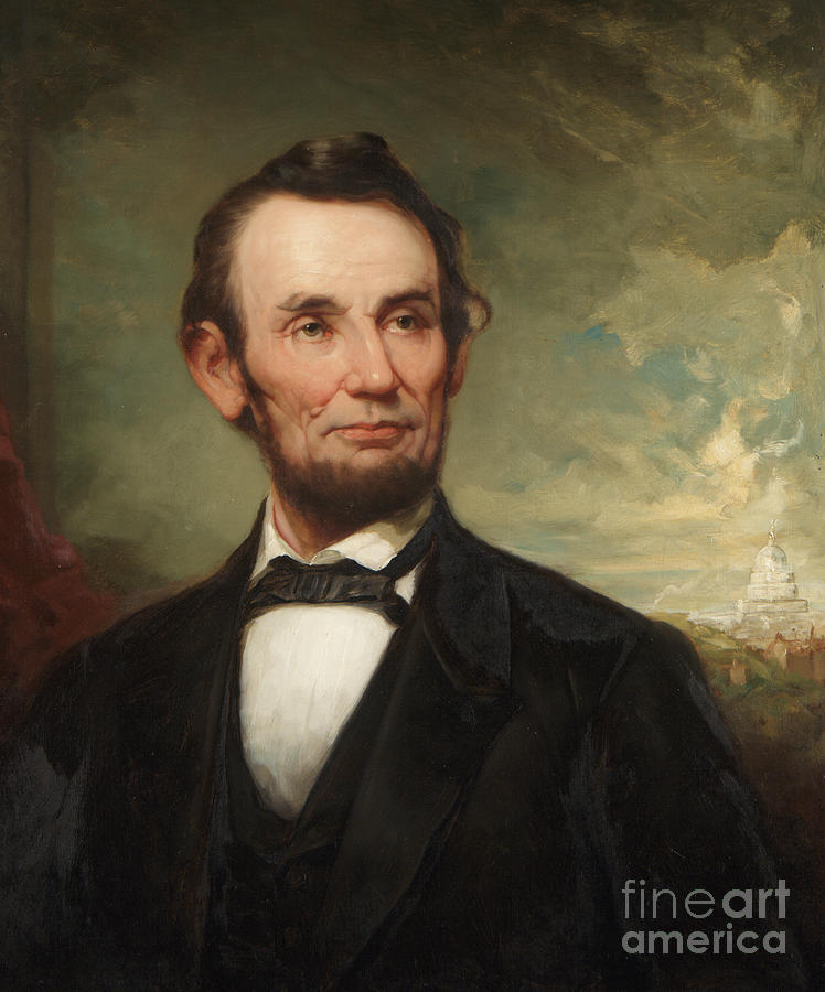 The President Painting - Abraham Lincoln  by George Henry Story