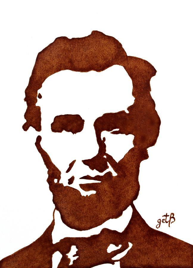 Abraham Lincoln Original Coffee Painting Painting