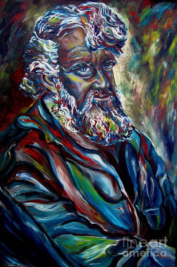 Abraham Patriarh Painting - Abraham  Patriarch by Carole Spandau
