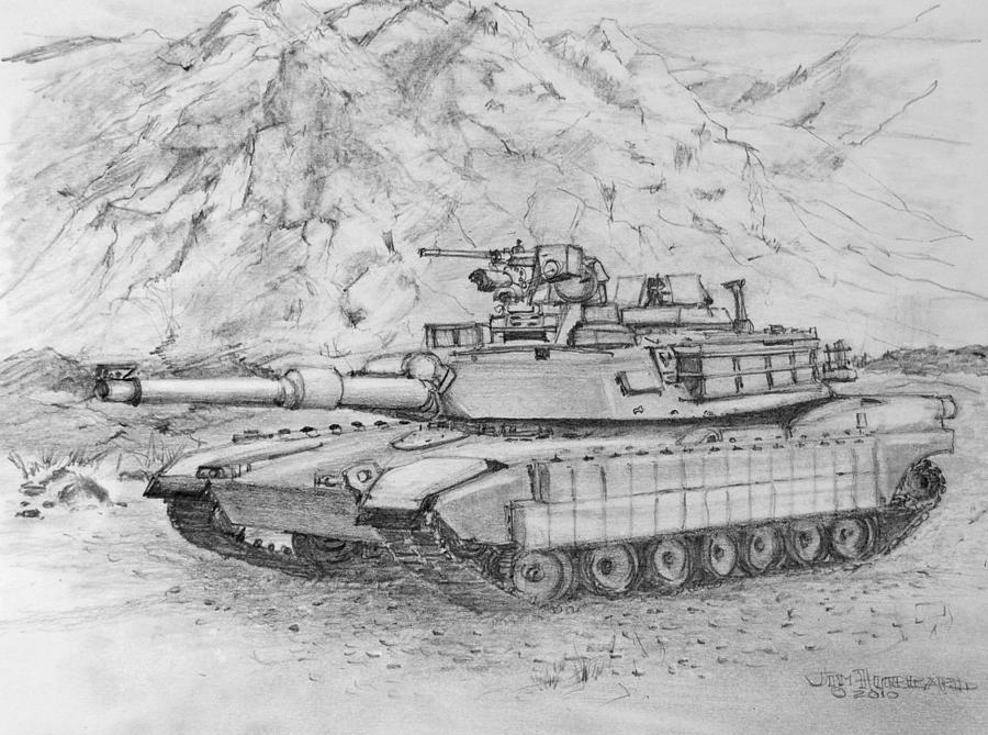 Abrams M1 Tank D    M1 Abrams Tank Drawing