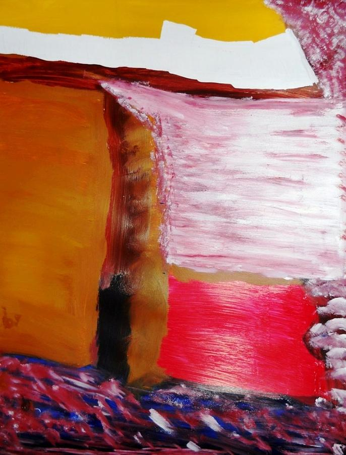 Abstract Painting - Absence by Fatiha Boudar