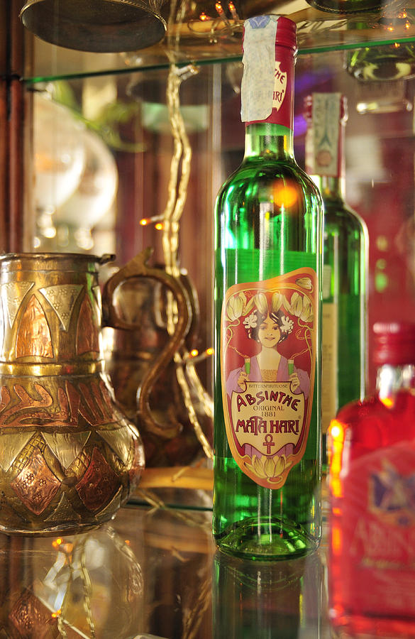 Absinthe Bottle In Bar Photograph  - Absinthe Bottle In Bar Fine Art Print