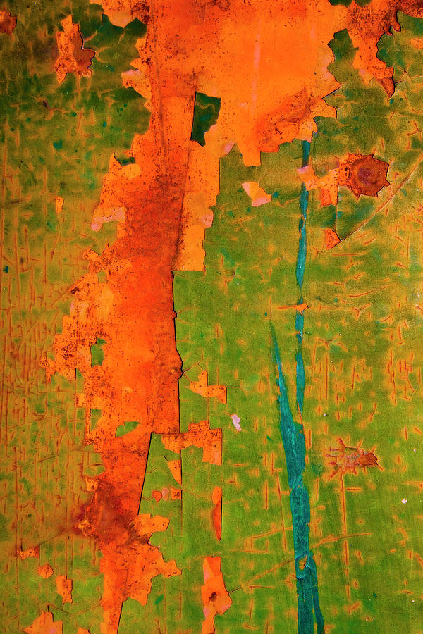 Green Photograph - Absrtract - Rust And Metal Series by Mark Weaver