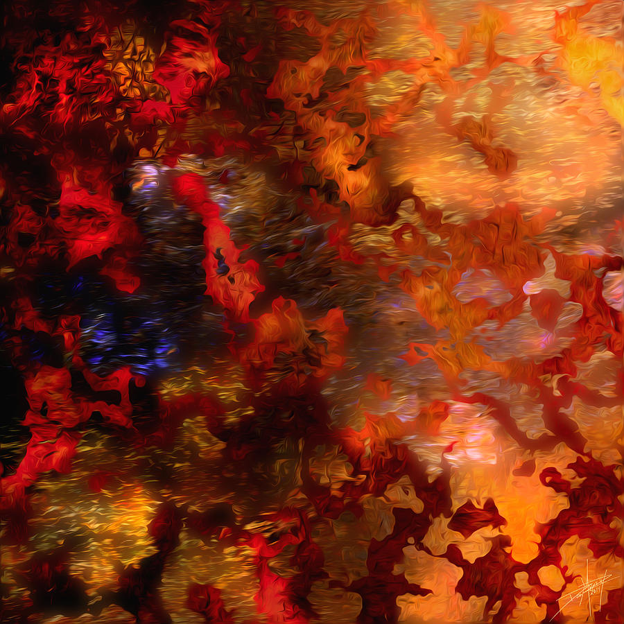 Red Painting - Abstract 21214a by Daniel Mowry