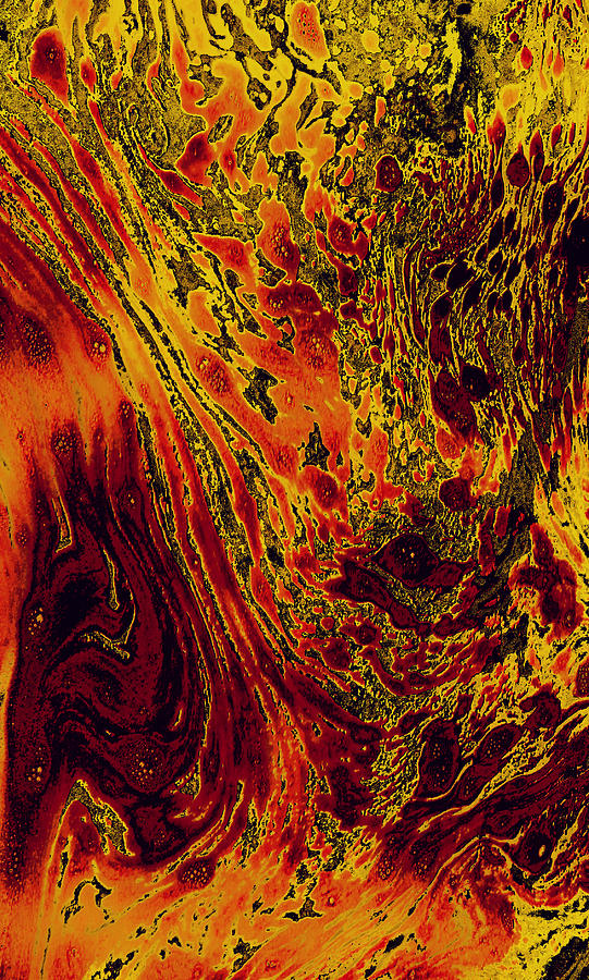 Abstract #24 - Passion Mixed Media