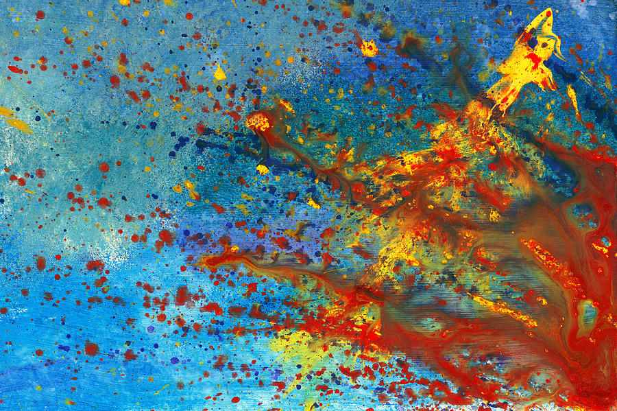 Abstract - Acrylic - Just Another Monday Painting  - Abstract - Acrylic - Just Another Monday Fine Art Print