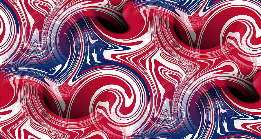 Abstract American Flag Digital  Abstract American Flag Art