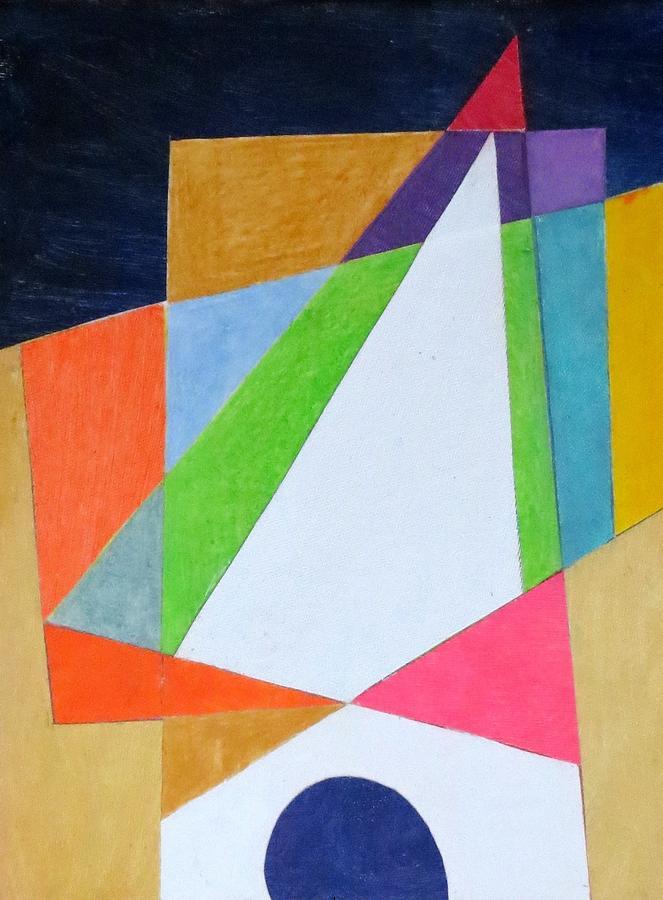 Abstract Angles Xi Mixed Media
